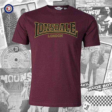 Camiseta Lonsdale Classic - Vinho