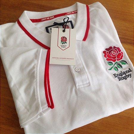 Polo Oficial England Rugby - Branco