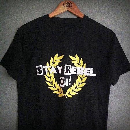 Camiseta Stay Rebel Oi!