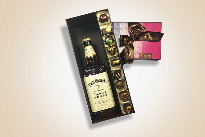 Pacquet Chocommelier Jack Daniels Honey com 9 bombons
