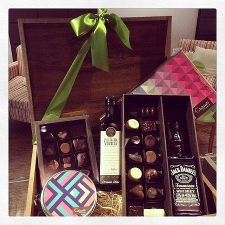 Cesta Bourbon - Whisky, Azeite e Chocolate