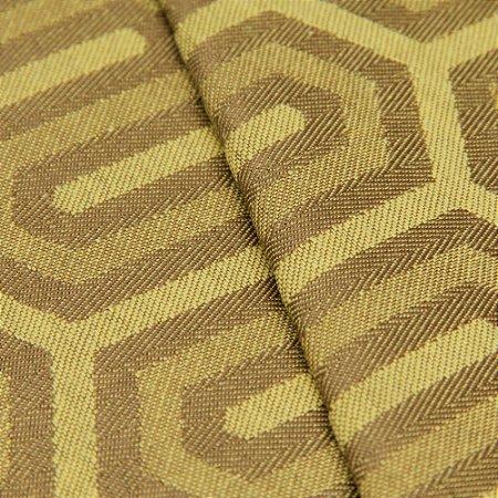 Tecido Jacquard Algodão Impermeabilizado Geometrico Mostarda e Marrom  - Pan 32