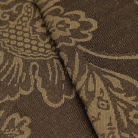 Tecido Jacquard Algodão Impermeabilizado Floral Marrom e Bege - Pan 45