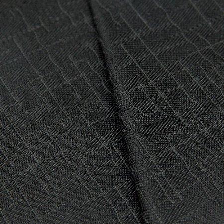 Tecido Jacquard Algodão Impermeabilizado Preto e Chumbo - Pan 53