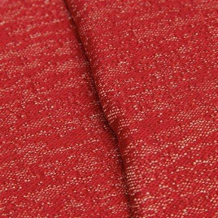 Tecido Jacquard Rajado Vermelho e Creme - Marrocos 17