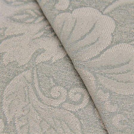 Tecido Jacquard Floral Verde Claro - Marrocos 34