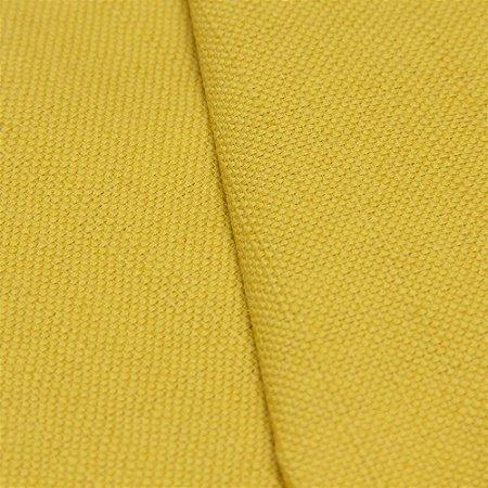 Tecido linho Tinto Impermeabilizado Mostarda liso - Aus 22