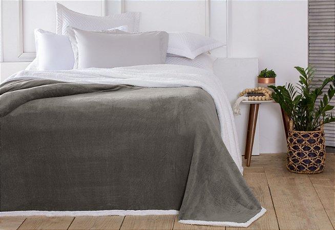 Manta Casal Áustria Taupe Corttex Sherpa Design 1,80 x 2,20mt