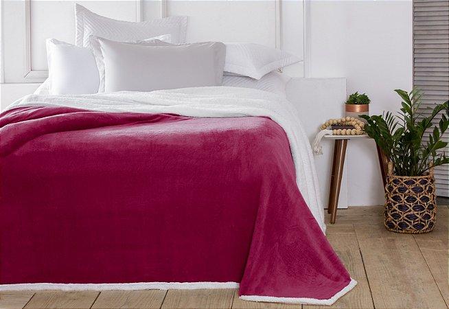 Manta Casal Áustria Vermelho Corttex Sherpa Design 1,80 x 2,20mt