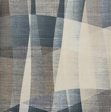 Tecido Sintético Macio Abstrato Cinza, Branco e Chumbo - Ametista 07
