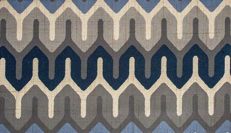Tecido Estampado Tranca Lilás, Cinza e Azul Marinho - Hava 01