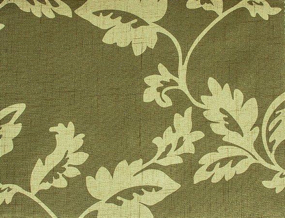 Tecido Estampado Folhas Fendi e Creme - Hava 17