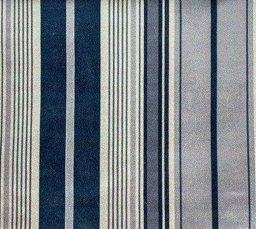 Tecido Gold Linhas Azul Marinho e Cinza - Hava 52
