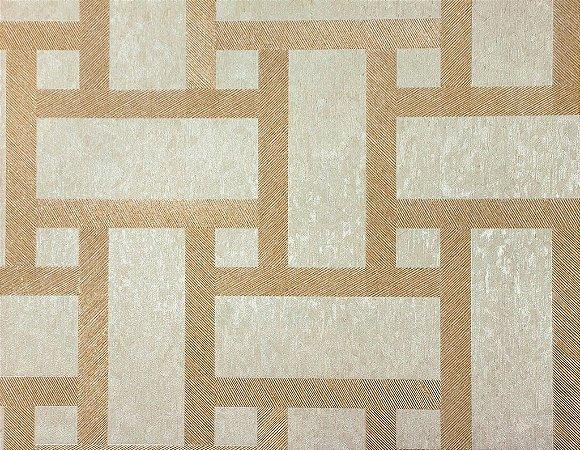 Papel de Parede Moda Em Casa Dourado e Areia com Glitter - 7182