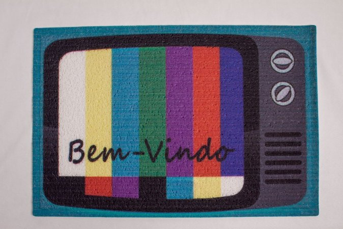 Capacho de Borracha Tv Bem Vindo