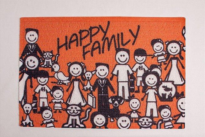 Capacho de Borracha Happy Family