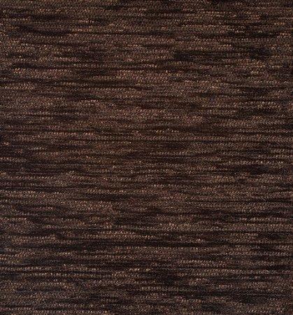 Tecido Chenille Rajado Marrom escuro - Pol 37