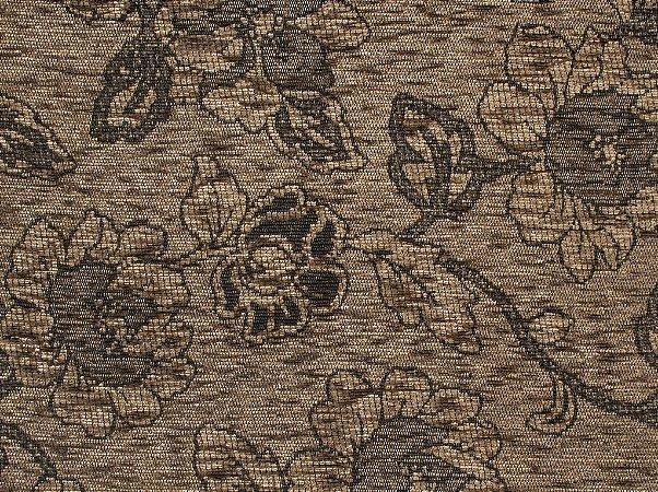 Tecido Chenille Floral Marrom - Pol 47
