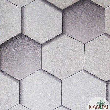 Papel de Parede Grace 3 Geométrico Cinza e Branco - 3G203701R