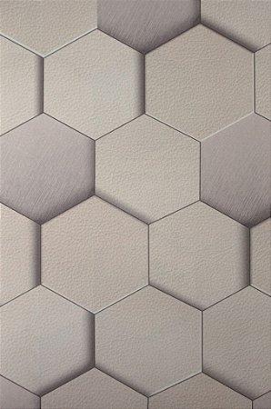 Papel de Parede Grace Geométrico Branco e OffWhite - GR920802