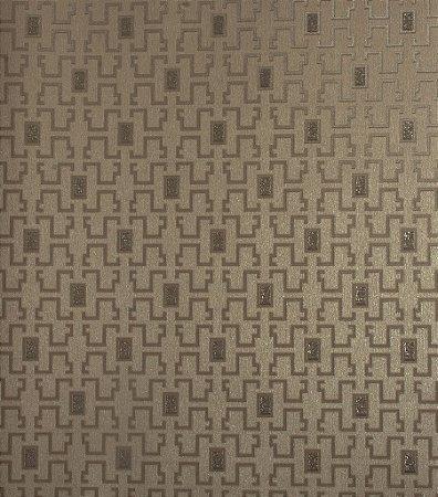 Papel de Parede Grace Geométrico com Retângulos Cappuccino - GR920904