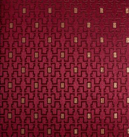 Papel de Parede Grace Geométrico com Retângulos Vinho e Cappuccino - GR920905