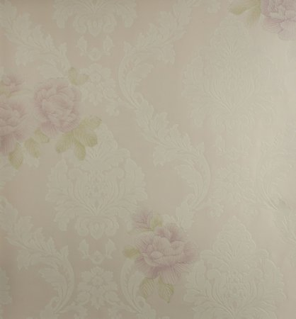 Papel de Parede Grace Medalhão Branco e Flores Lilás - GR922003