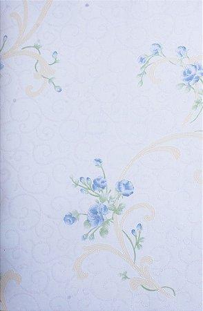 Papel de Parede Grace Ramos Creme e Azul - GR921503