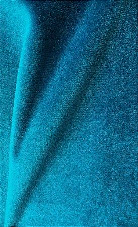 Tecido veludo Rubi Azul turquesa 11