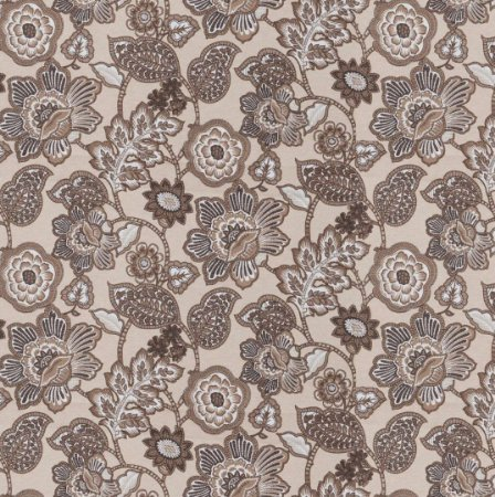 Tecido Impermeabilizado Floral Bege e Marrom - ASTV 121