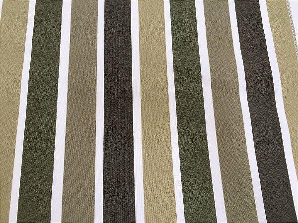 Tecido área externa Summer Listras Tons de Verde e Branco 216
