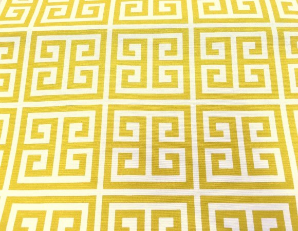 Tecido área externa Summer Amarelo e Branco 241