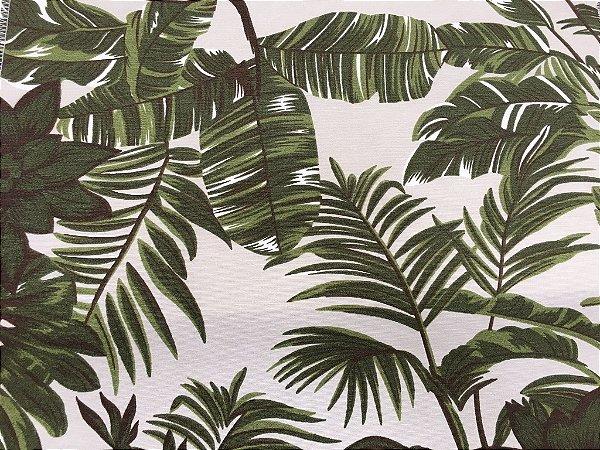 Tecido área externa Summer  Coqueiros Floral Areia Verde 262