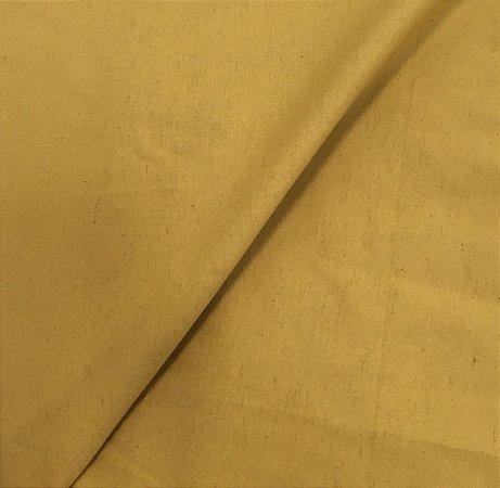 Tecido Linho Impermeabilizado Liso Mostarda  - Mace 15
