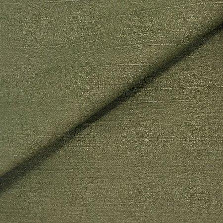 Tecido Linho Impermeabilizado Liso Verde Musgo - Mace 51