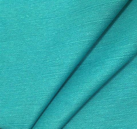 Tecido Linho Impermeabilizado Liso Verde Piscina - Mace 33