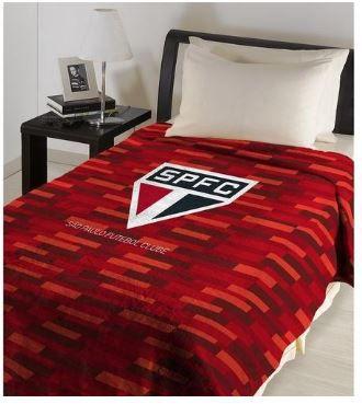 Manta Cobertor São Paulo Oficial e Licenciado - Solteiro 2,00 m X 1,50 m