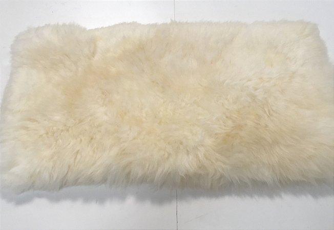 Tapete pele de carneiro legítimo - Muito macio - Cor bege claro - 0,50 x 1,00 metros