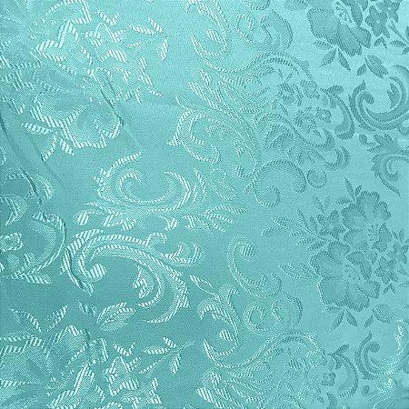 Tecido Jaquard Adamascado Floral com 2,80 mts de largura Verde Tyfanni