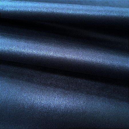 Tecido Veludo Azul Marinho Liso