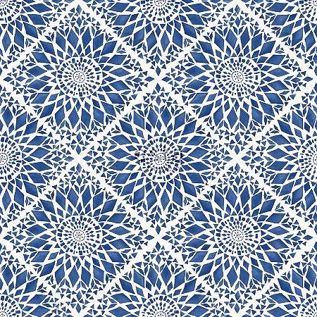 Papel de parede Cabana Abstrato Azul - 140-148612