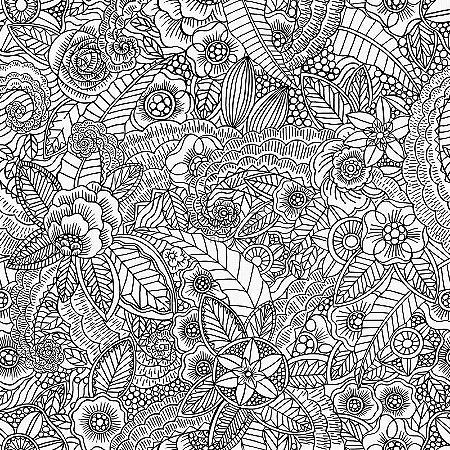 Papel de parede Cabana Floral Creme e Marrom - 140-148616