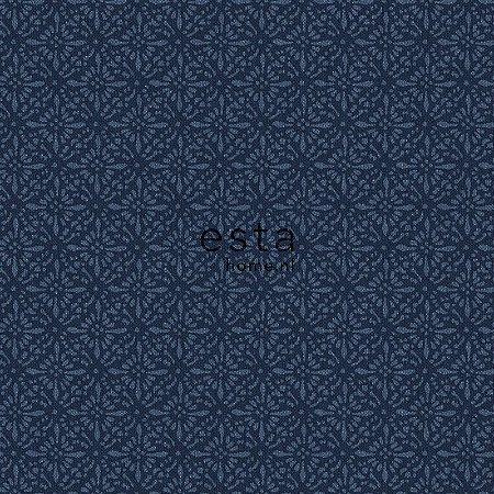 Papel de parede Marrakech Desenho Estilo Oriental Azul Jeans 138-148322