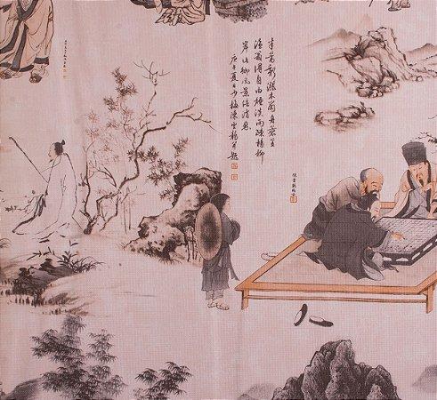 Papel de parede Neonature Toile de Jouy Estilo Chinês Rosê PR-0212