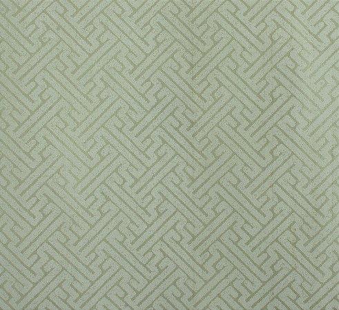 Papel de parede Space III Zig Zag Branco com Verde SP-138702