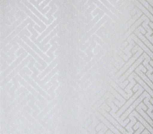 Papel de parede Space III Zig Zag Branco com Marfim SP-138701