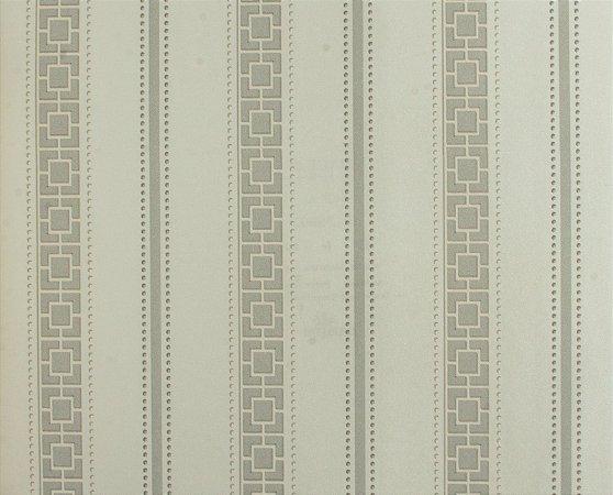 Papel de parede Space III Quadriculado com Listras Creme e Cinza SP-139003