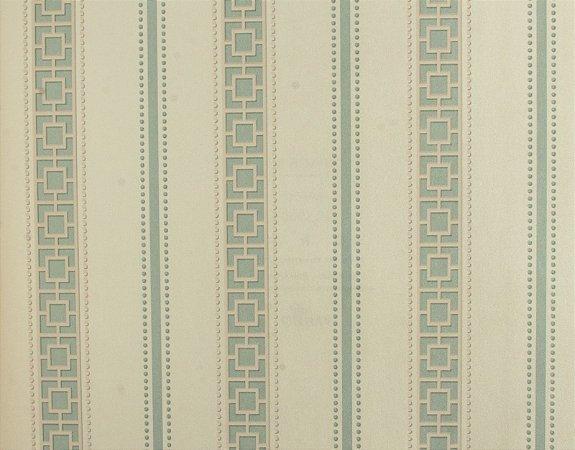 Papel de parede Space III Quadriculado com Listras Creme e Azul Claro SP-139004
