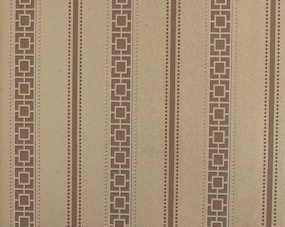 Papel de parede Space III Quadriculado com Listras Bege e Marrom Claro SP-139005