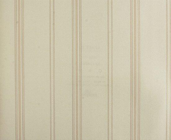 Papel de parede Space III Listrado com Bolinhas Branco e Bege Claro SP-138001